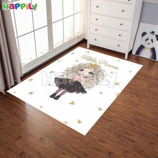 فرش اتاق کودک طرح دختر زیبا 52306