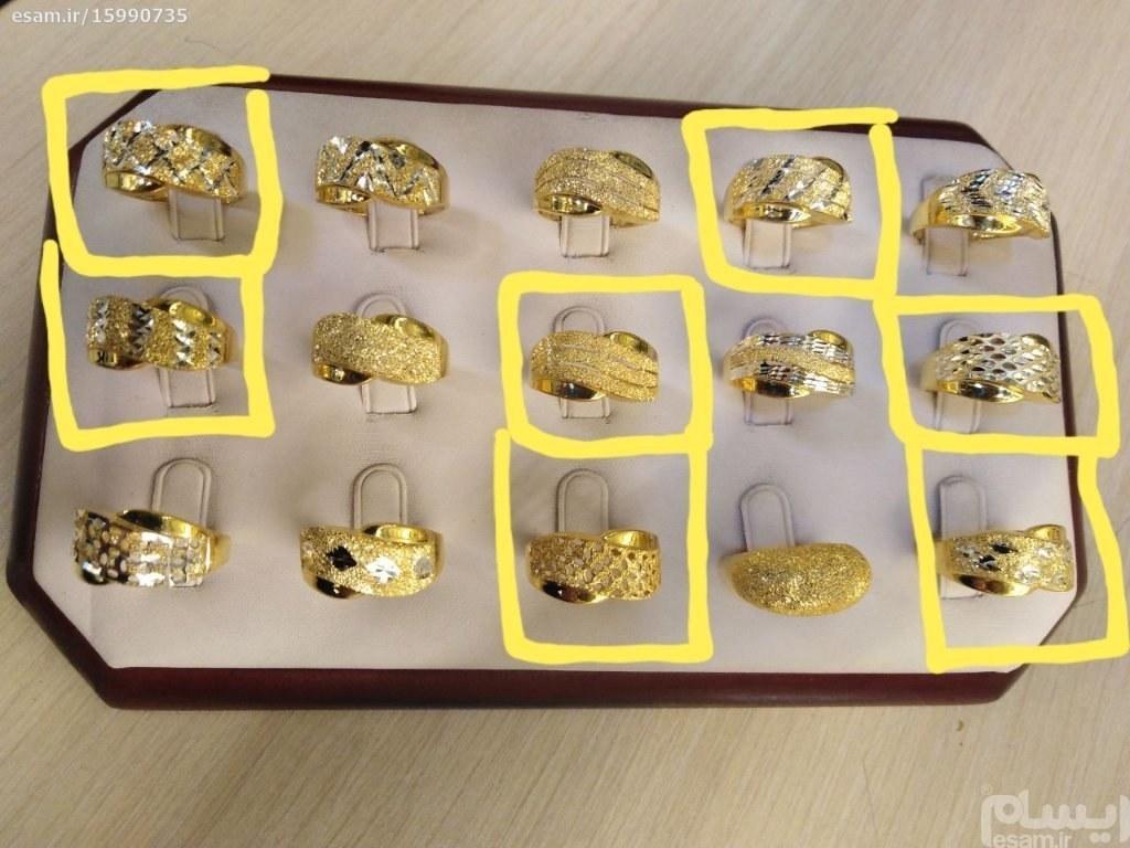 7 عددی که با چهار خونه زرد مشخص شده ارسال میشود | 7 عدد انگشتر نقره 925 زنانه طرح طلا