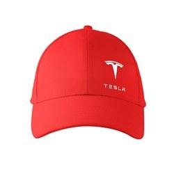 تصویر کلاه کتان قرمز تسلا