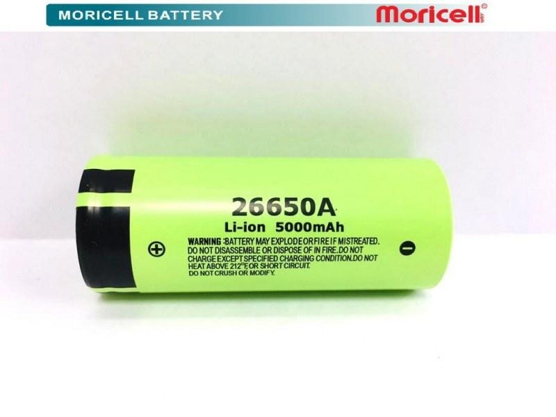تصویر باتری لیتیوم آیون 26650A شارژی 5000 میلی آمپر