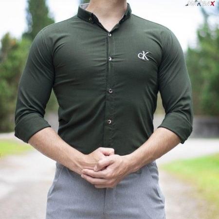 پیراهن مردانه سبز CK
