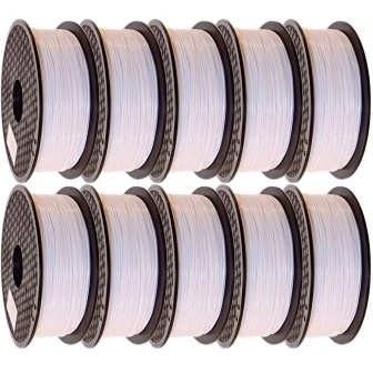 فیلامنت PLA پرینتر سه بعدی مدل Jamghe قطر 1.75 میلی متر 1 کیلوگرم بسته 10 عددی  
