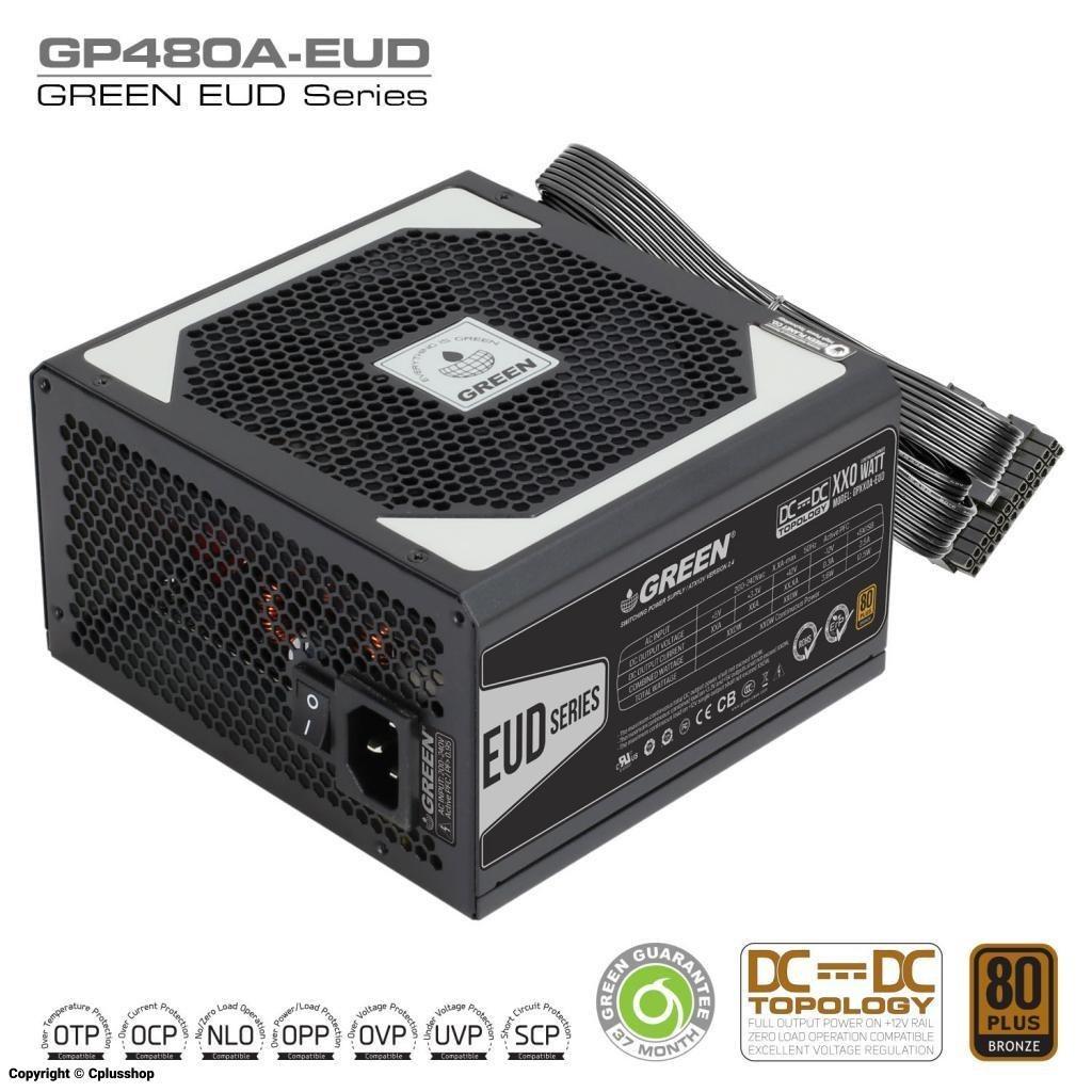منبع تغذیه (پاور) گرین Power Green GP480A-EUD