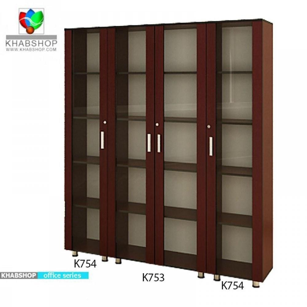 کتابخانه تمام شیشه K753 |