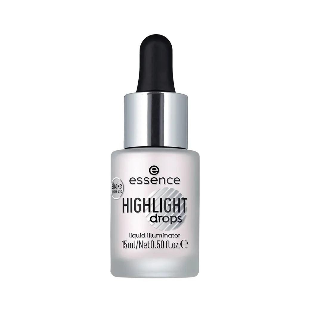 تصویر هايلايتر مايع اسنس مدل ايلومينيتينگ شماره 10 silver lining Essence Highlighter Liquid Illuminating No10 silver lining