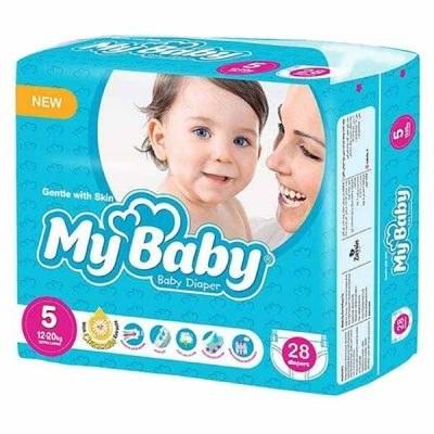 تصویر پوشک مای بیبی سایز 5 بسته 28 عددی  My Baby Diaper Size 5 Pack of 28