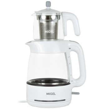 تصویر چای ساز قوری روی کتری میگل GTS 070 ا Migel GTS 070 Tea Maker Migel GTS 070 Tea Maker