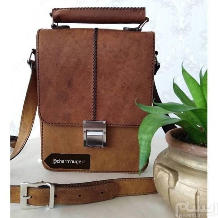کیف دوشی مردانه چرم طبیعی