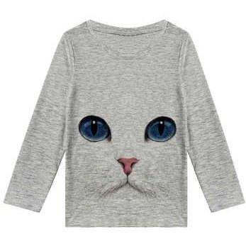 تی شرت آستین بلند پسرانه طرح گربه کد R70