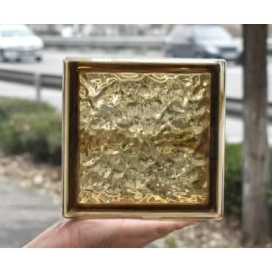 تصویر بلوک شیشه ای مدل چکشی برنز