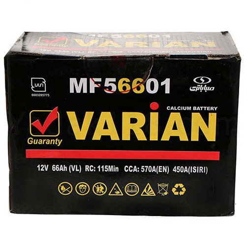 تصویر باتری 66 آمپر واریان ا SabaVarian12V66 AH VRLA Battery SabaVarian12V66 AH VRLA Battery