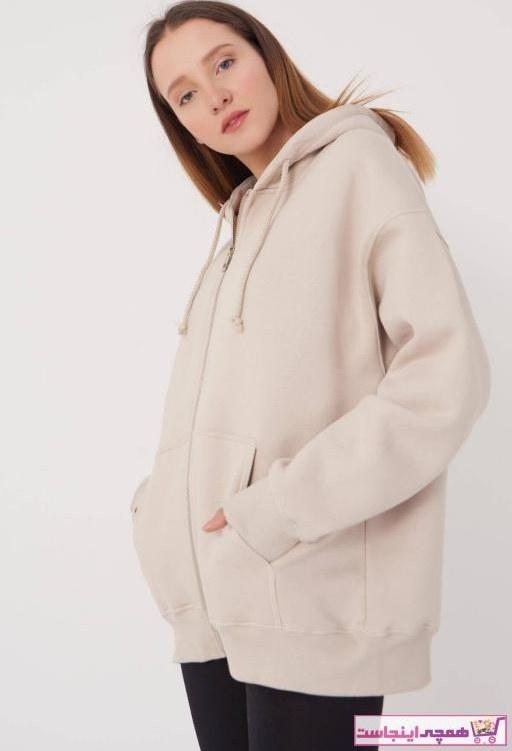 تصویر خرید اینترنتی ژاکت بافتی بلند برند Addax رنگ بژ کد ty74350024