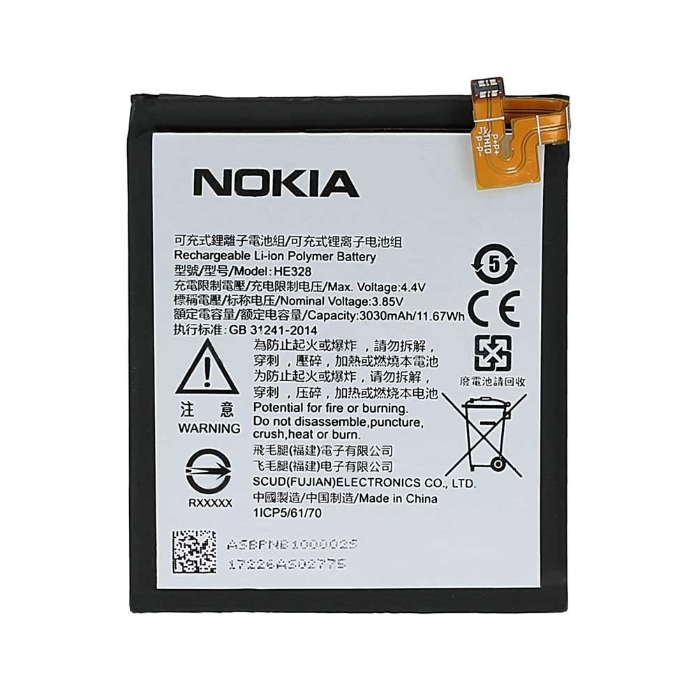 تصویر باتری اصلی نوکیا 8 Battery Nokia 8 HE 328