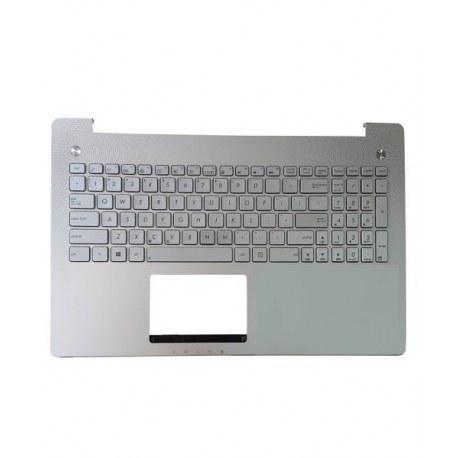 کیبورد لپ تاپ ایسوس با قاب C نقره ای Laptop Keyboard ASUS N550
