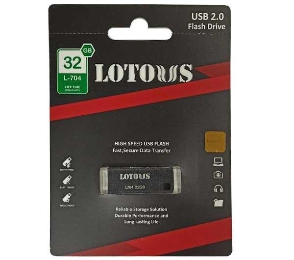 تصویر فلش مموری لوتوس مدل L704 ظرفیت 32 گیگابایت Lotous L704 Flash Memory 32GB