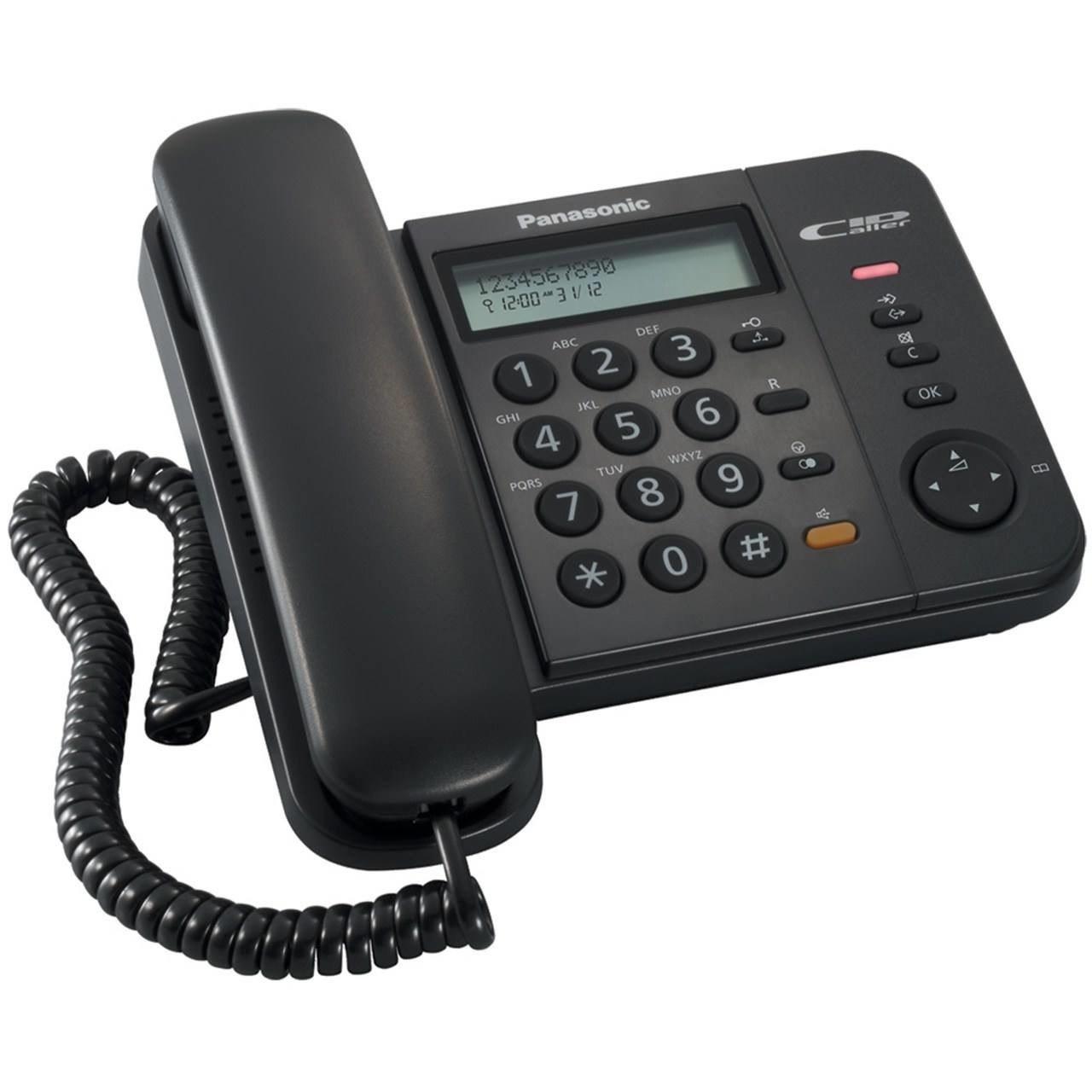 تصویر تلفن دیجیتال با سیم پاناسونیک مدل تی اس 580 ام ایکس Panasonic Digital Corded Phone - KX-TS580MX
