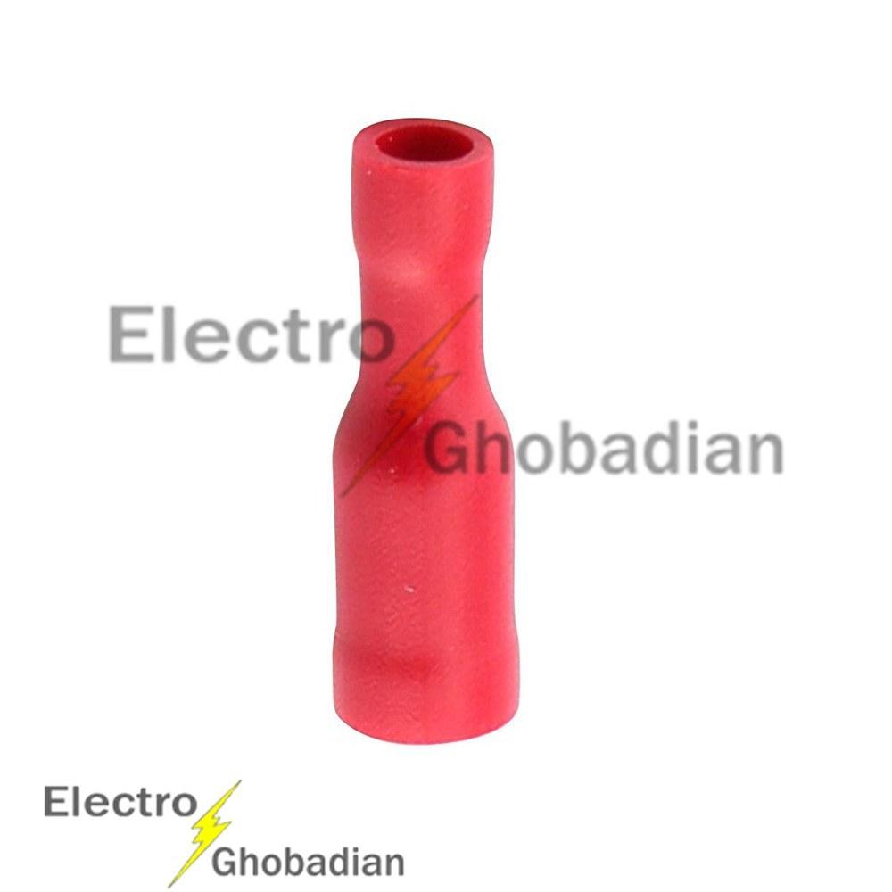 تصویر سرسیم لول (فشنگی) مادگی، ورودی سیم ۱/۵ کد (FRD1.25-156) رنگ قرمز بسته صدتایی Wire and cable accessories