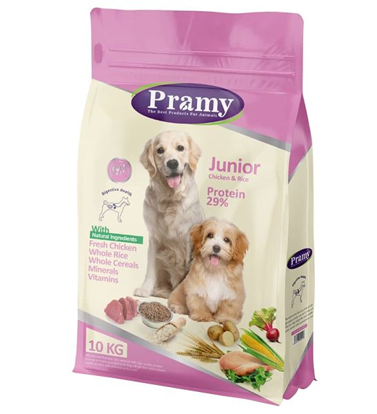 غذای خشک سگ پرامی مدل Junior وزن 10 کیلوگرم
