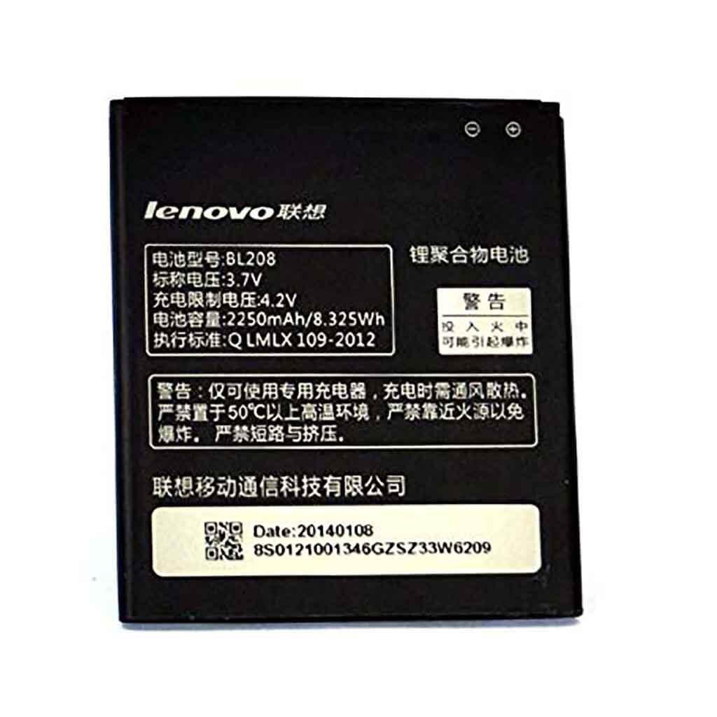 تصویر باتری لنوو Lenovo S920 مدل BL208 battery Lenovo S920 model BL208