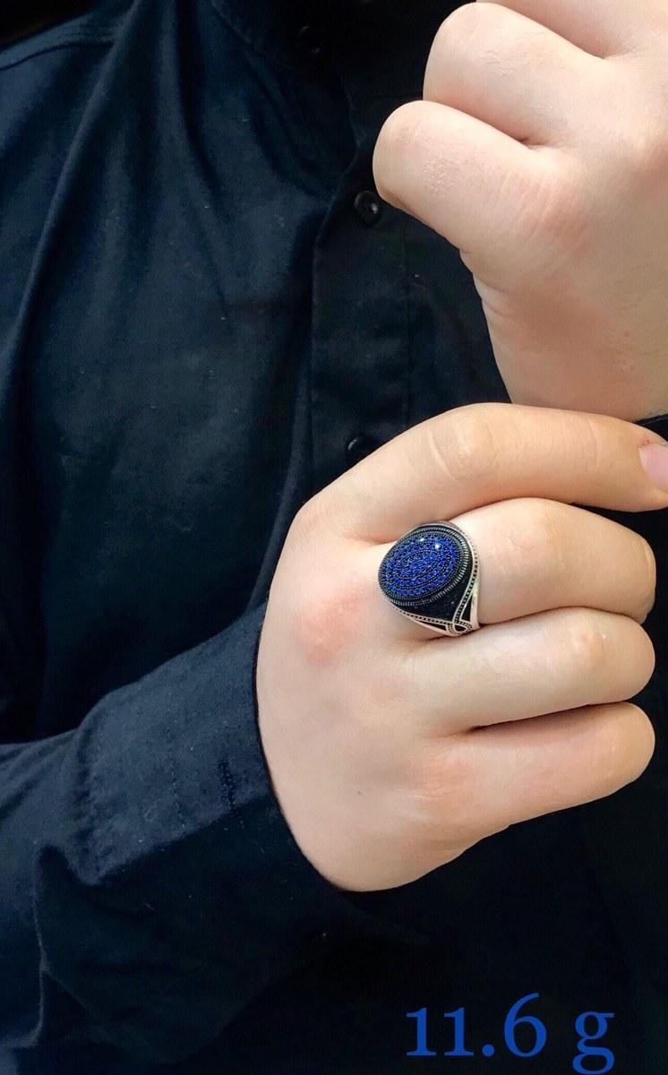 انگشتر نقره مردانه با نگین مارکازیت