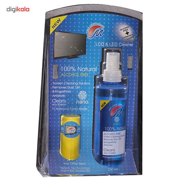 img کيت تميزکننده LCD و LED مهرتاش - 250 ميلي ليتر Mehrtash Nano Antibacterial Cleaner Kit For LCD And LED Display 250ml