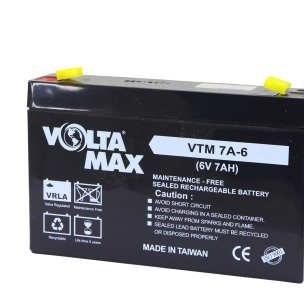 باتری 6 ولت 7 آمپر ولتامکس مدل 6v-7Ah |