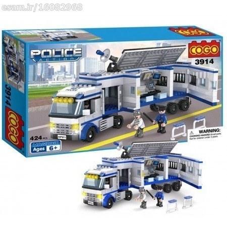 لگو 424 کوگو سری Police Action مدل 3914 محصول COGO | لگو در واقع یک پازل سه بعدی فکری میباشد که از قطعات کوچک با اشکال و رنگ های متنوع تشکیل شده است.