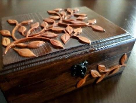 جعبه منبت و معرق تمام چوب کد ۰۲۷