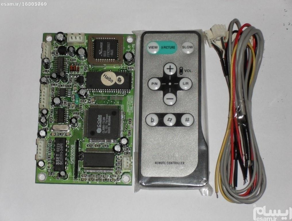 برد تبدیل دستگاههای cd صوتی track به تصویری   همراه با کابل های مربوطه و ریموت کنترل