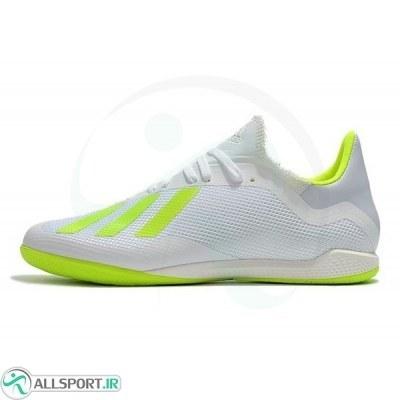 کفش فوتسال آدیداس ایکس طرح اصلی سفید زرد Adidas X Tango 18.3 IN - WhiteYellow