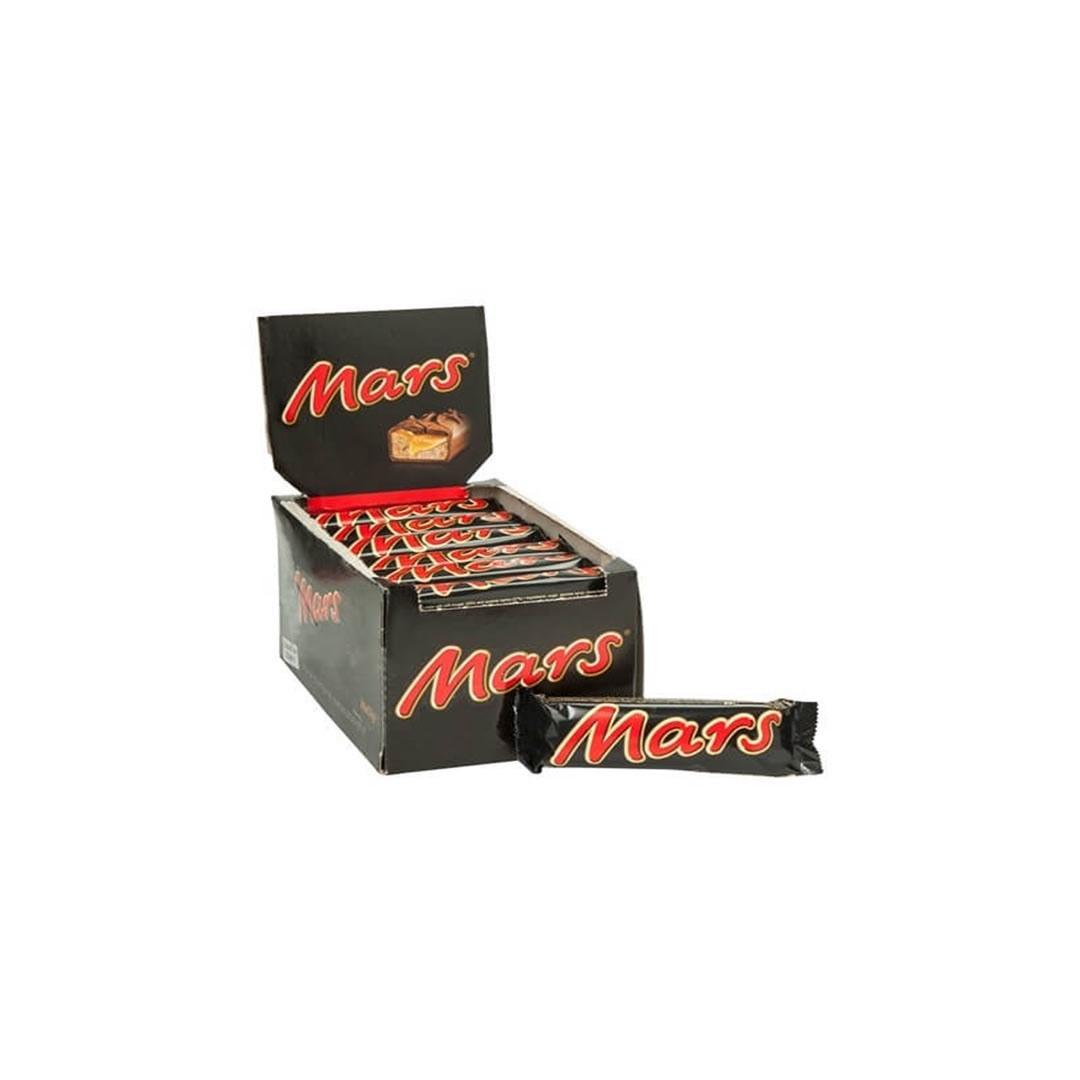 تصویر شکلات مفزدار کارامل و بادام زمینی مارس - 51 گرم  |  بسته 24 عددی Mars Caramel Chocolate - 51 g | 24 pc