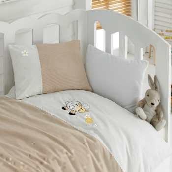 سرویس ملحفه کودک کاتن باکس طرح Kuzucuk یک نفره 4 تکه | Cotton Box Kuzucuk Child Bedsheet Set 1 Person 4 Pcs