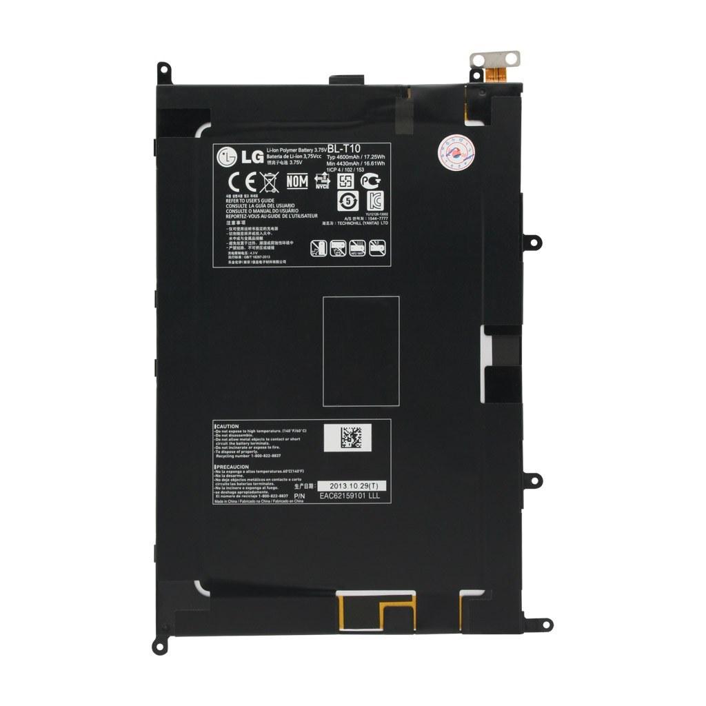 تصویر باتری اورجینال تبلت ال جی مدل BL-T10 ظرفیت 4600 میلی آمپر ساعت LG BL-T10 4600mAh Original Battery