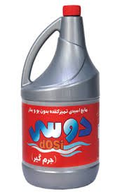 تصویر جرم گیر اسیدی پاک کننده سرویس های بهداشتی بدون بو و بخر ۴ لیتری دوسی