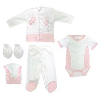 ست 5 تکه لباس نوزادی دخترانه کد 2744  