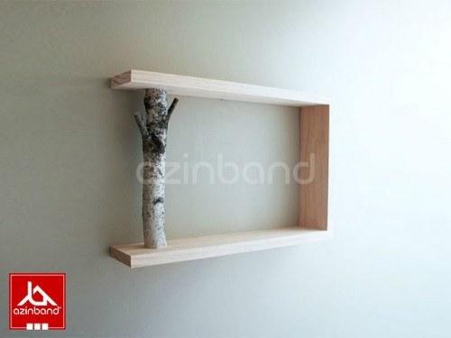 عکس شلف دیواری با شاخه طبیعی  شلف-دیواری-با-شاخه-طبیعی