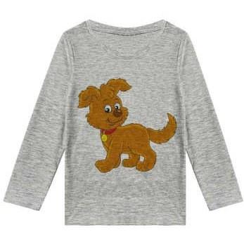 تیشرت آستین بلند پسرانه طرح سگ کد R21  
