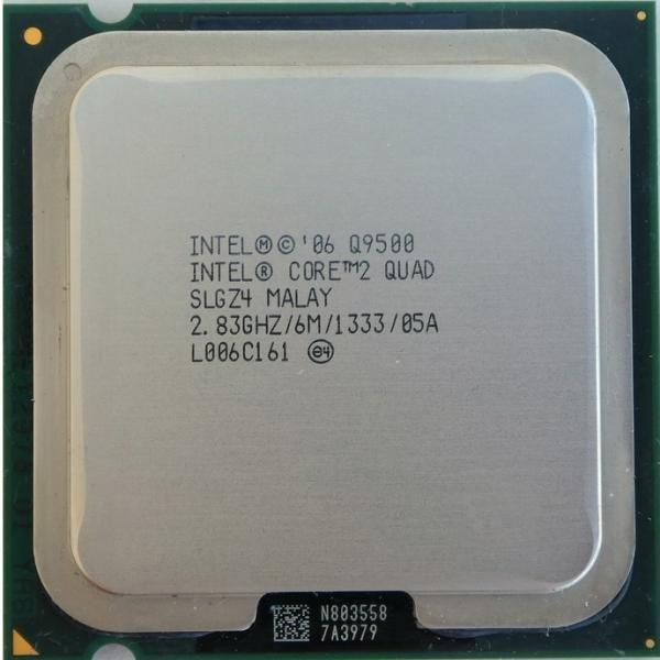 تصویر پردازنده مرکزی اینتل سری Wolfdale مدل Q9500