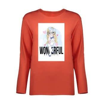 تی شرت آستین بلند دخترانه کد 9043 |