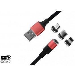 تصویر کابل شارژ مغناطیسی  اندروید،آیفون و تایپ سی  X-HANZ CX300