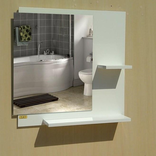 آینه دستشویی مدل ۴۰۳۲ با دو شلف | ۶۵ در ۶۰ سانتیمتر |