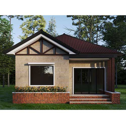 تصویر طرح خانه باغ ویلا کوچک سنتی