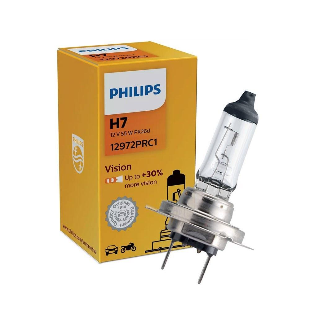 تصویر لامپ هالوژن خودرو فیلیپس اصل مدل H7 فابریک