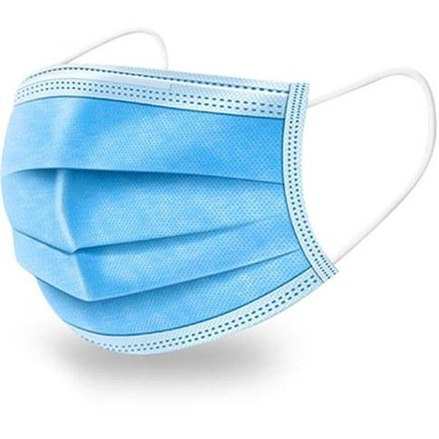 پک ۵۰ عددی ماسک تنفسی ۳ لایه سرجیکال-آبی (Face Mask Surgical Disposable Face Mask)