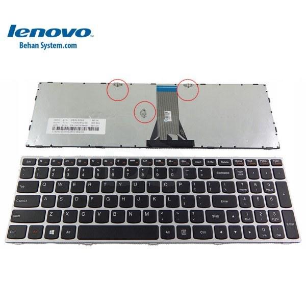main images کیبورد لپ تاپ لنوو مدل IdeaPad Z5170 به همراه لیبل کیبورد فارسی جدا گانه