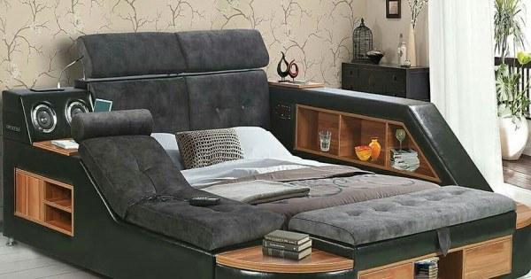 تصویر تخت خواب دو نفره ماساژور هوشمند لوگانو