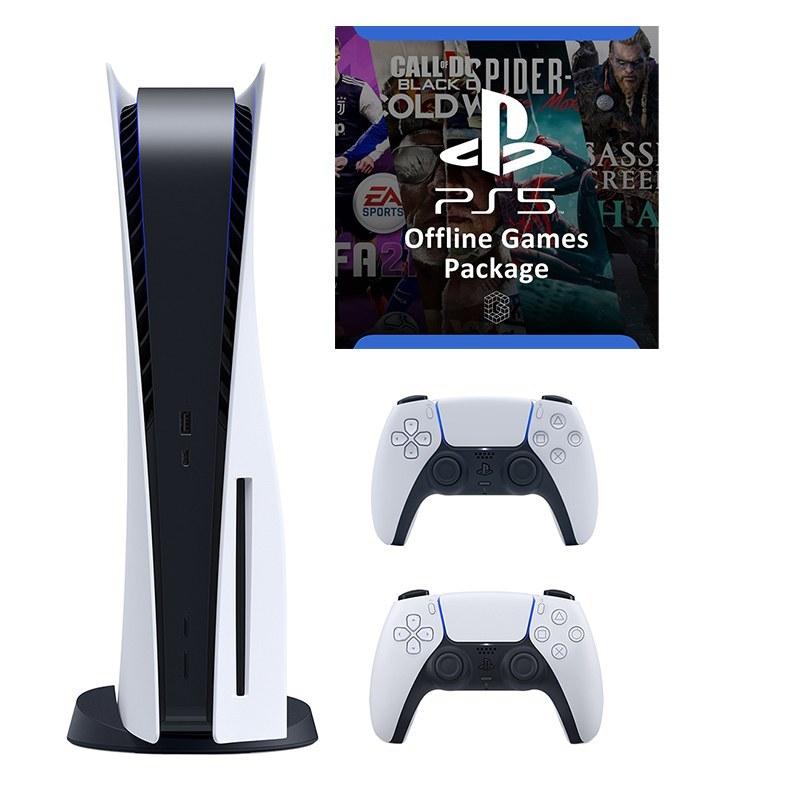 تصویر کنسول بازی SONY مدل Playstation 5 به همراه 1 عدد دسته اضافه + نصب بازی آفلاین
