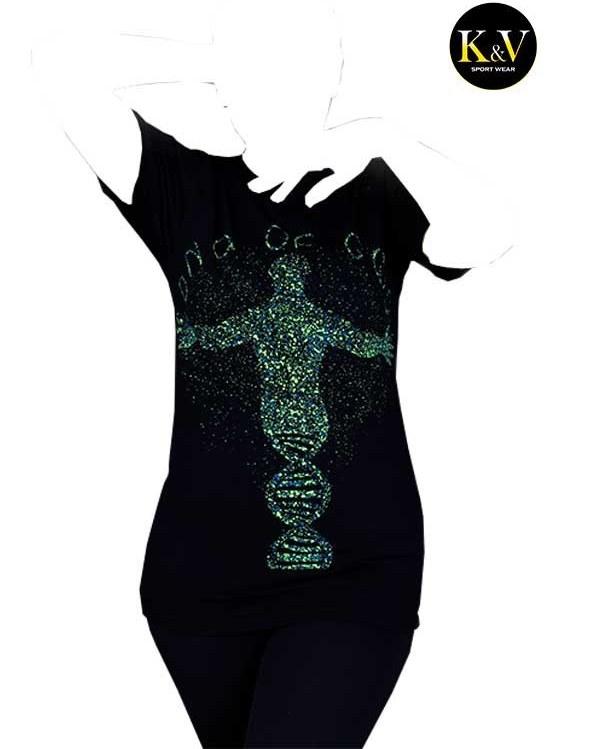 تصویر تیشرت اسپرت زنانه دخترانه کد 002 Women's sports tshirt for girls code 002
