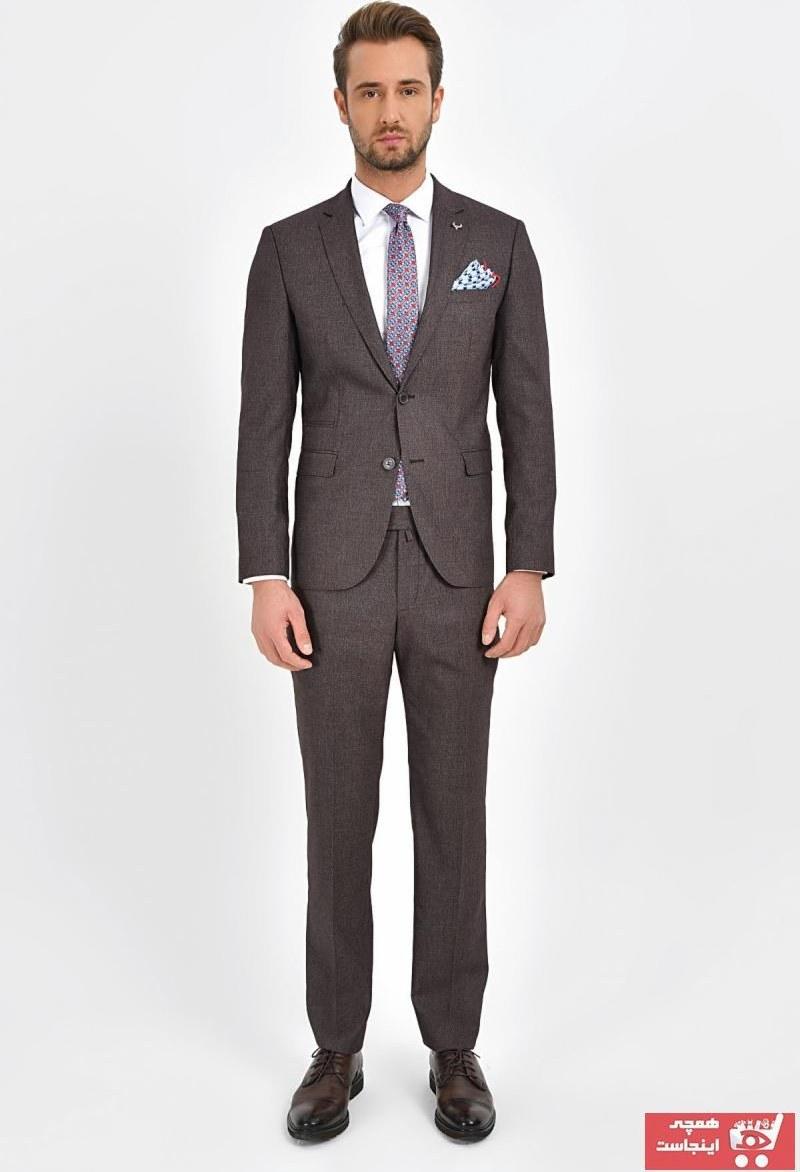 تصویر کت شلوار مردانه اصل برند Centone رنگ زرشکی ty32244300