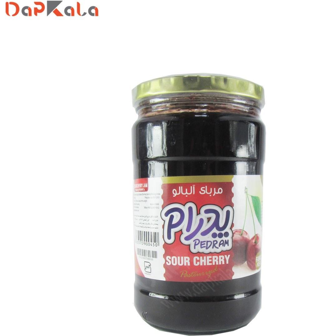 تصویر مربای آلبالو پدرام 750 گرم Hot cherry jam 750 g